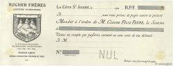 Francs FRANCE régionalisme et divers La Côte St André 1900 DOC.Mandat TTB