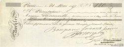 120 Francs FRANCE régionalisme et divers Paris 1847 DOC.Chèque SUP