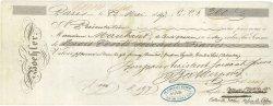 360 Francs FRANCE régionalisme et divers PARIS 1847 DOC.Chèque TTB