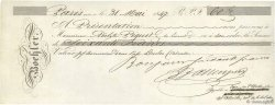 60 Francs FRANCE régionalisme et divers PARIS 1847 DOC.Chèque TTB