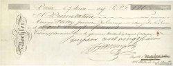 120 Francs FRANCE régionalisme et divers PARIS 1874 DOC.Chèque TTB