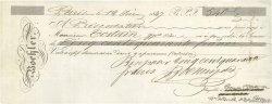 540 Francs FRANCE régionalisme et divers Paris 1847 DOC.Chèque TTB