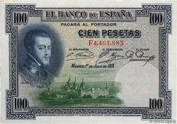 100 Pesetas ESPAGNE  1925 P.069c pr.NEUF
