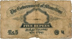 5 Rupees ÎLE MAURICE  1937 P.22 AB