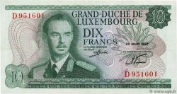 10 Francs LUXEMBOURG  1967 P.53a SUP
