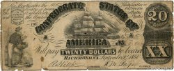 20 Dollars CONFEDERATE STATES OF AMERICA Richmond 1861 P.31 G
