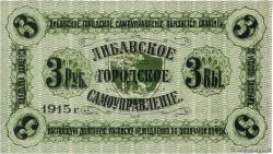 3 Roubles LETTONIE Libava 1915  NEUF