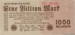 1 Billion Mark  ALLEMAGNE  1923 P.129 SPL