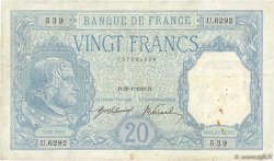 20 Francs BAYARD FRANCE  1919 F.11.04 TB+
