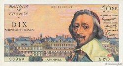 10 Nouveaux Francs RICHELIEU FRANCE  1963 F.57.22 pr.SUP