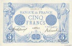 5 Francs BLEU FRANCE  1914 F.02.22 SPL
