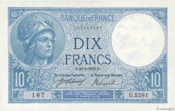 10 Francs MINERVE FRANCE  1918 F.06.03 SPL