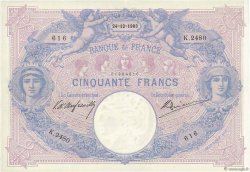 50 Francs BLEU ET ROSE FRANCE  1903 F.14.15 TTB+