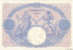 50 Francs BLEU ET ROSE FRANCE  1915 F.14.28 SUP+