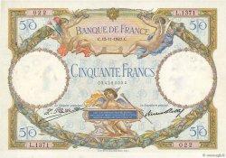 50 Francs LUC OLIVIER MERSON FRANCE  1927 F.15.01 SUP