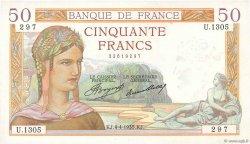 50 Francs CÉRÈS FRANCE  1935 F.17.07 SUP