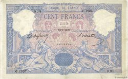100 Francs BLEU ET ROSE FRANCE  1900 F.21.13 B à TB