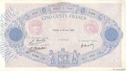 500 Francs BLEU ET ROSE FRANCE  1923 F.30.27 TTB+