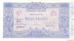 1000 Francs BLEU ET ROSE FRANCE  1915 F.36.29 TTB
