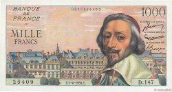 1000 Francs RICHELIEU FRANCE  1955 F.42.12 SPL