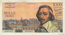 1000 Francs RICHELIEU FRANCE  1957 F.42.26 aVF