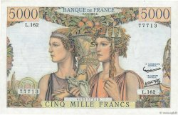 5000 Francs TERRE ET MER FRANCE  1957 F.48.14 SPL