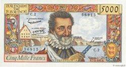 5000 Francs HENRI IV FRANCE  1957 F.49.01 SUP