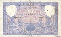 100 Francs BLEU ET ROSE  FRANCE  1909 F.21.24 pr.B