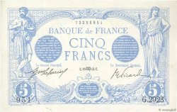 5 Francs BLEU FRANCE  1913 F.02.20 TTB