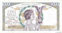 5000 Francs VICTOIRE modifié FRANCE  1938 F.45.01 pr.TTB