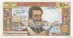 50 Nouveaux Francs HENRI IV FRANCE  1959 F.58.02 SUP+