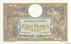 100 Francs LUC OLIVIER MERSON sans LOM FRANCE  1915 F.23.07 SUP+