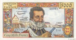 5000 Francs HENRI IV FRANCE  1958 F.49.05 SUP+