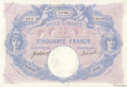 50 Francs BLEU ET ROSE FRANCE  1915 F.14.28