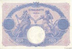 50 Francs BLEU ET ROSE FRANCE  1915 F.14.28 TTB+