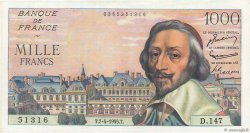 1000 Francs RICHELIEU FRANCE  1955 F.42.12 SUP+