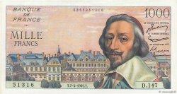 1000 Francs RICHELIEU FRANCE  1955 F.42.12 SUP+