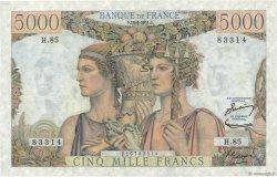 5000 Francs TERRE ET MER FRANCE  1951 F.48.05 SUP
