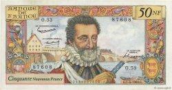 50 Nouveaux Francs HENRI IV FRANCE  1960 F.58.05 pr.SUP
