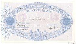 500 Francs BLEU ET ROSE modifié FRANCE  1939 F.31.50 SUP+