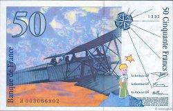 50 Francs SAINT-EXUPÉRY sans STRAP FRANCE  1992 F.72qua.01 NEUF