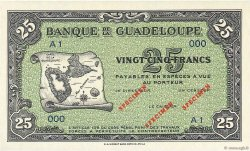 25 Francs GUADELOUPE  1942 P.22s NEUF