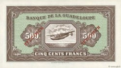 500 Francs type américain GUADELOUPE  1942 P.25s NEUF