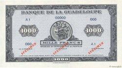 1000 Francs Karukera petit format GUADELOUPE  1942 P.26As NEUF