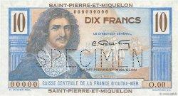 10 Francs Colbert SAINT PIERRE ET MIQUELON  1946 P.23s NEUF