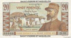 20 Francs E.Gentil SAINT PIERRE ET MIQUELON  1946 P.24s NEUF