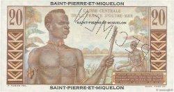 20 Francs Émile Gentil SAINT PIERRE ET MIQUELON  1946 P.24s NEUF