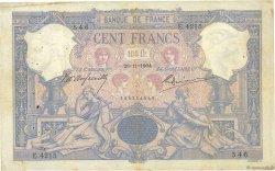 100 Francs BLEU ET ROSE FRANCE  1904 F.21.18 B+