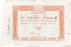 1000 Francs FRANCE  1795 Ass.50a