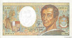 200 Francs MONTESQUIEU FRANCE  1981 F.70.01 TTB
